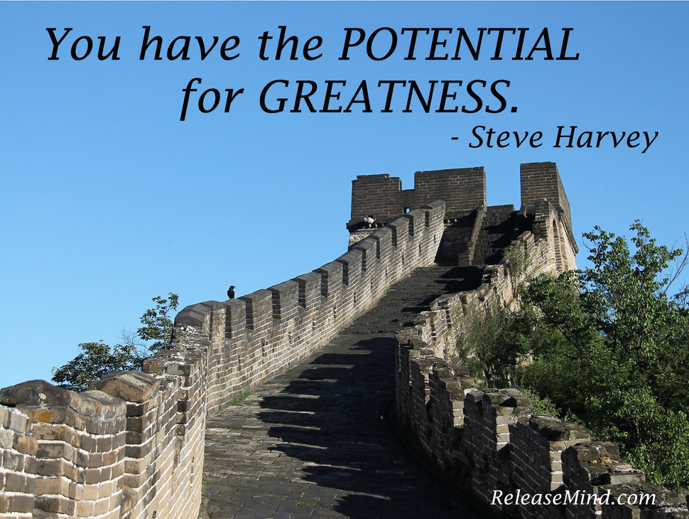 """""""You have the POTENTIAL for GREATNESS"""" - Steve Harvey"""